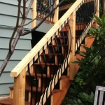 Tiger Wood deck stairs - after