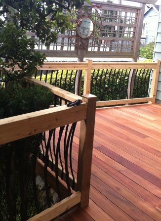 Tiger Wood Deck by J&M Remodel, Seattle, WA