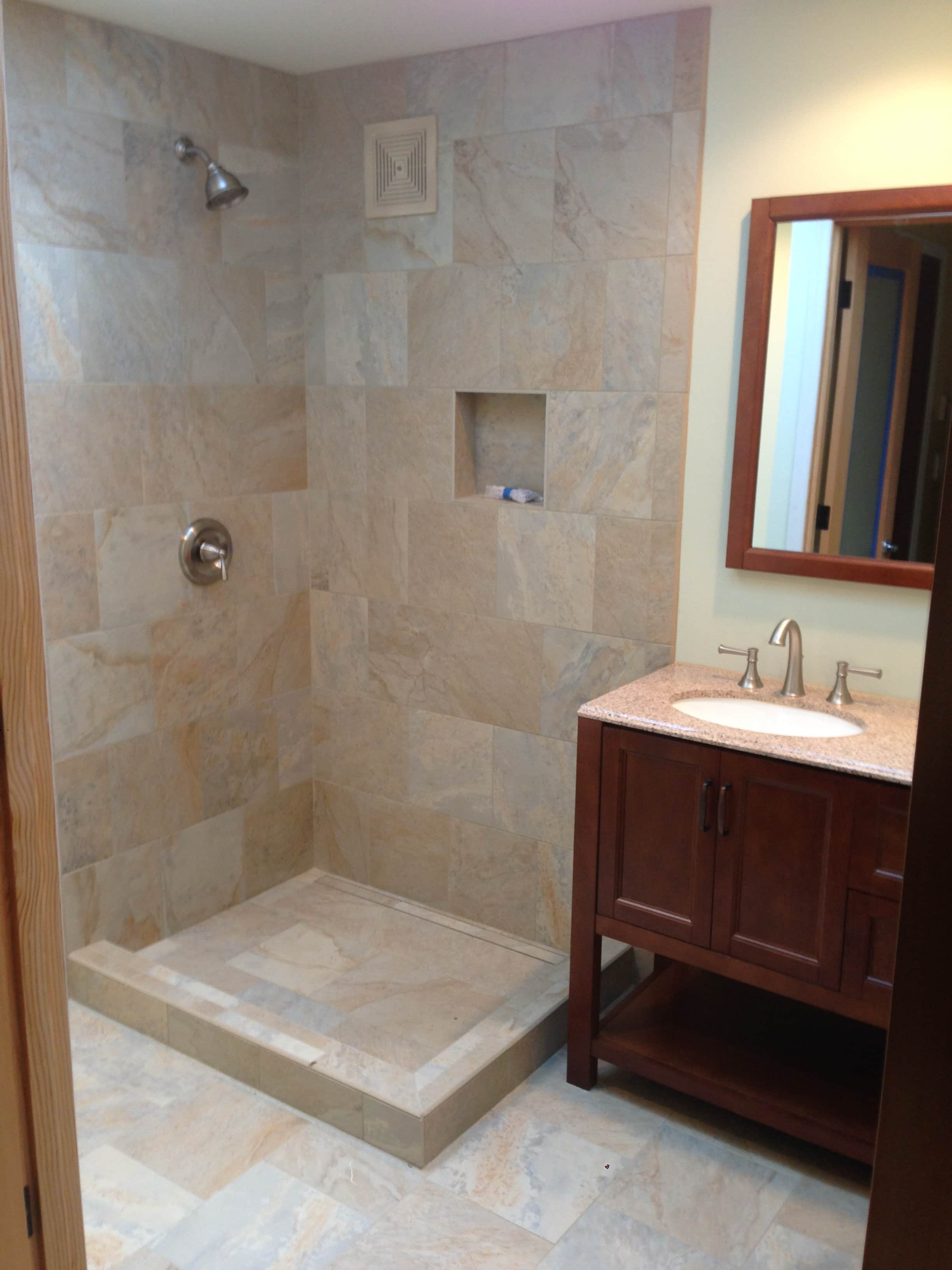 Floor To Ceiling Tile Shower