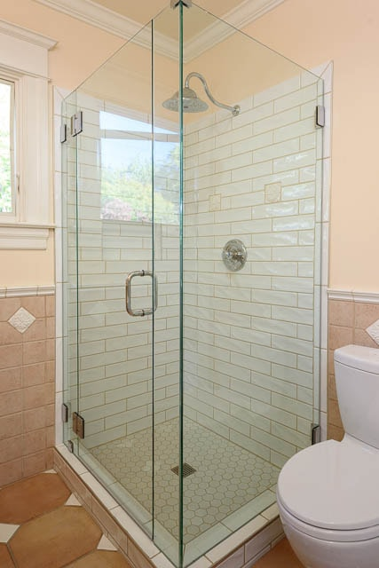 Bathroom REmodel in Queen Anne neighborhood of Seattle WA by J and M Remodel 98119-glass shower